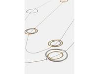 Kette, Metallic-Ringe, lange Form