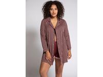 Nachthemd, Pyjama-Style, Streifen, Langarm
