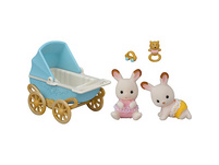 Sylvanian Families Schokoladenhasen Zwillinge mit Kinderwagen