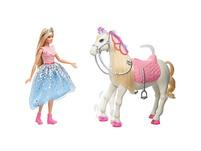 Barbie Prinzessinnen Abenteuer Tanzendes Pferd mit Prinzessin Puppe, Licht & Geräuschen