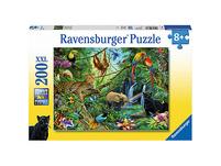 Puzzle, 200 Teile XXL, 49x36 cm, Tiere im Dschungel
