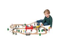 myToys Holzeisenbahn-Spielset, 84-tlg.