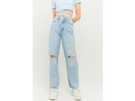 High Waist Dad Straight Jeans