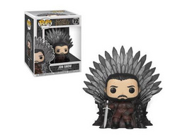 Game of Thrones - POP! Vinyl-Figur Jon Schnee auf dem Eisernen Thron (Super Size)