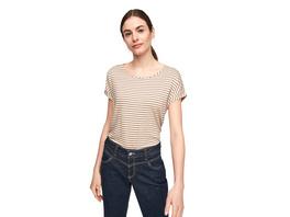 Ringelshirt im Leinenmix - Jersey/Leinenmix-T-Shirt