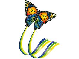 Einleinerdrachen Schmetterling, 95 x 63 cm