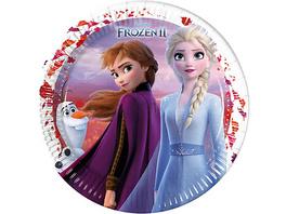Pappteller Disney Die Eiskönigin 2 23 cm, 8 Stück