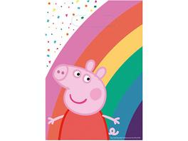 Partytüten Peppa Pig Papier,  8 Stück