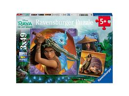 Puzzle 3 x 49 Teile Raya,die tapf.Kriegerin
