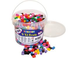 XL-Bügelperlen im Eimer, 10-Farben-Mix, 950 Stück