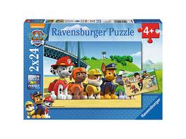 2er Set Puzzle, je 24 Teile, 26x18 cm, PAW Patrol: Heldenhafte Hunde