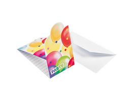 Einladungskarten Balloons, 8 Stück inkl. Umschläge