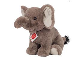 Teddy Hermann 90743 - Elefant sitzend, Stofftier, Plüschtier, 25 cm
