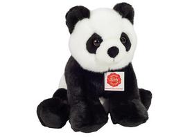 Teddy Hermann 92428 - Panda sitzend, Stofftier, Plüschtier, 25cm